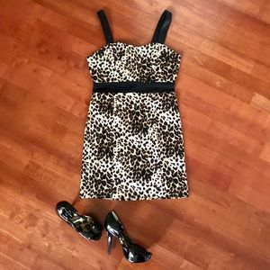 Forever 21 SEXY LEOPARD DRESS